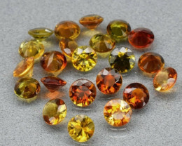 22pcs Lot 6.08ct t.w VS-VVS Round Natural Unheated Multi-Color Tourmaline