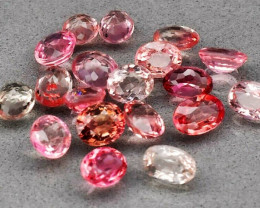 19 pcs Lot 9.04ct t.w Oval Natural Unheated Light Pink Tourmaline