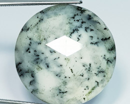14.50ct Exclusive Natural Faceted Dendrite Opal Round Cut Gemstone