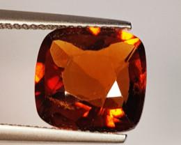 5.80 ct AAA Grade Gem Cushion Cut Natural Hessonite Garnet