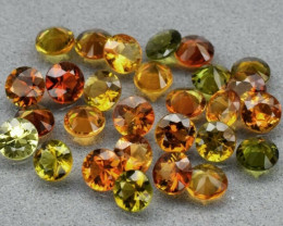 28pcs Lot 6.22ct t.w Round Natural Unheated Multi-Color Tourmaline, Mozambi