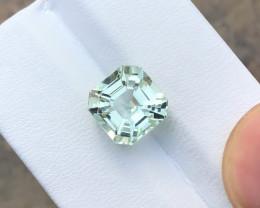 5 Ct Natural Yellowish Transparent Asscher Cut Kunzite Gemstone