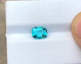 HGTL CERTIFIED 1.140 Ct Natural Indicolite Transparent Tourmaline TOP Color