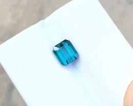 HGTL CERTIFIED 1.20 Ct Natural Blue Indicolite Tourmaline Ring Size Gemston