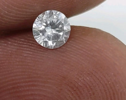 Certified Nat  $1094Fiery 0.54cts SI1 White Loose Diamond Round