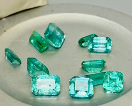 EMERALD LOT 12 PCS!! THE BEST FOR JEWELLERY-   SALE OF THE COLLECTION!!!