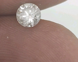Cert $1001 Fiery 0.64 ct SI2 White Loose Diamond Round  Natura
