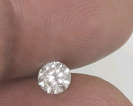Certified Nat  $1013  Fiery 0.50cts SI1  White Round Loose Diamond