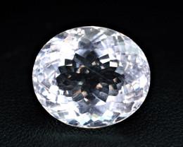 11Carat Ultra Rare Pollucite cut Gemstone @Kunar AFGHAN