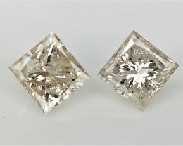 0.30 cts Princess Brilliant Cut Diamond