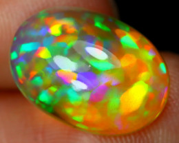 3.74Ct Bright Neon Rainbow Flash Color Play Welo Opal B1511