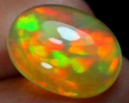 5.30Ct Bright Neon Rainbow Flash Color Play Welo Opal B1516