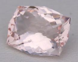 3.19Ct Natural Sweet Pink Morganite VVS Pink Beryl Madagascar A0116