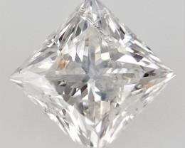 0.33 CTS , Light Colored Diamond , Square Brilliant cut Diamond