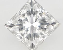 1.01 CTS , Solitaire Diamond , Sparkling Princess Cut Diamond