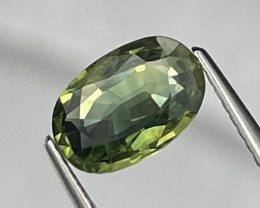 1.79 Cts Olivine Green Fine Quality Natural Sapphire Top Luster