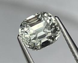 1.84 Cts Master Cut Top Grade Rare Ash Grey Natural Tourmaline