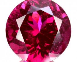 12.78 Cts Natural Reddish Pink Rubellite Tourmaline Round 14mm  Mozambique