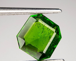 1.35 CT Beautiful Luster Chrome Diopside Gemstone ~ Russia