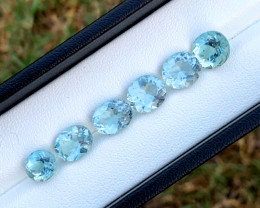 15.35 Carats Natural Aquamarine Loose Gemstones Lot