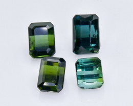 4.08 Crt Natural Tourmaline Faceted Gemstone.( AB 2)