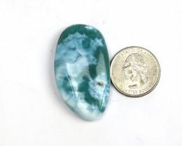 Biggest 1.8inch rarest Natural Sky Blue Green Larimar Cabochon 46x26x10mm
