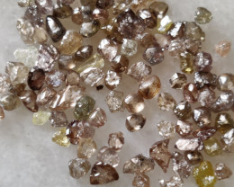Naturalaustralian brown colour diamond rough 5ctw lot  5-10pts size