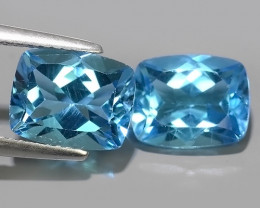 7.30 CTS INVESTMENT GEM~VIP SWISS BLUE TOPAZ~CUSHION~CUT EXCLUSIVE !!