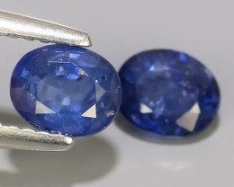 1.70 CTS AWESOME BLUE SAPPHIRE HEATED FACETED GENUINE