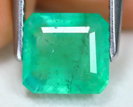 Zambian Emerald 1.55Ct Octagon Cut Natural Green Color Emerald A1615