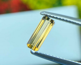 Tourmaline 0.45 Cts Bellini Yellow Step cut BGC1050