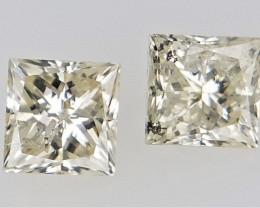 2/0.25 cts , Off White Diamond , Cut and Polished Diamond