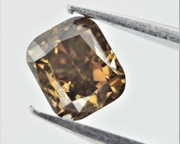 0.38 cts , Cushion Brilliant Cut Diamond , Fancy Color Diamond
