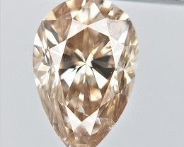 0.35 cts , Pear Brilliant Cut Diamond , Light colored Diamond