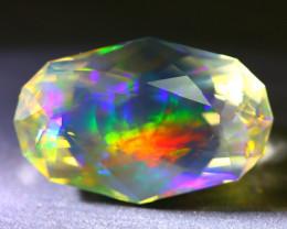 ContraLuz Opal 7.74Ct Beautiful Artistic Phantom Opal Faceted B1603