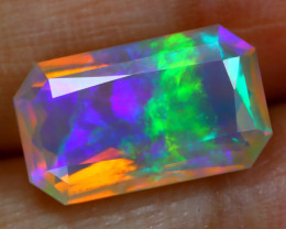 3.51Ct Rolling Flash Play Color Ethiopian Faceted Welo Opal B1604