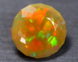 3.60Ct Bright Neon Rainbow Flash Color Play Faceted Welo Opal B1609