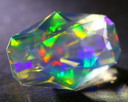 ContraLuz Opal 4.37Ct Beautiful Artistic Phantom Opal Faceted B1613