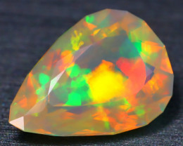 4.49Ct Broad Flash Pattern Neon Rolling Play Color Welo Opal B1616