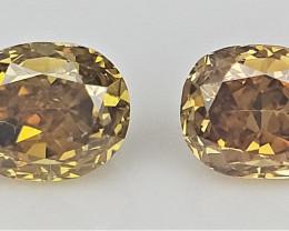 2/0.16 cts , Oval Brilliant Cut Diamond , Fancy colored Diamond