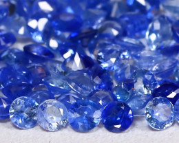 4.40Ct Calibrate 2.2mm Round Natural Blue Color Sapphire Lot A1715