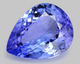 5.76 Ct Tanzanite Awesome Cut And Clarity Gemstone Tz10