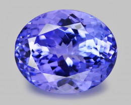 4.06 Ct Tanzanite Awesome Cut And Clarity Gemstone Tz13