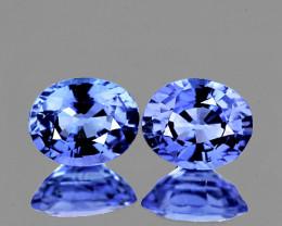 5x4 mm Oval 2 pcs 0.97ct Blue Sapphire [VVS]
