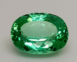9.45Crt Green Spodumene Natural Gemstones JI06