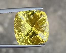9.56 Cts Natual Lemon Quartz Good Quality Gemstone