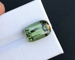 5.91 ct Green Color Top Luster Tourmaline Faceted Gem