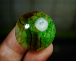 43.80 CT Beautiful Green Dragon Skin Chalcedony Agate