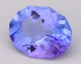 Tanzanite 2.44Ct VVS Oval Cut Natural Purplish Blue Tanzanite B1705
