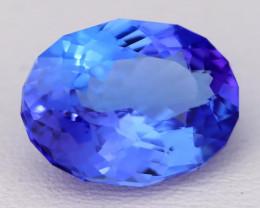 3.98Ct Natural Vivid Blue Tanzanite IF Flawless Oval Master Cut B1708